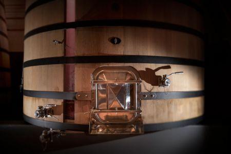 Cuve vitrée en fermentation