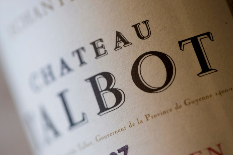 chateau talbot bouteilles